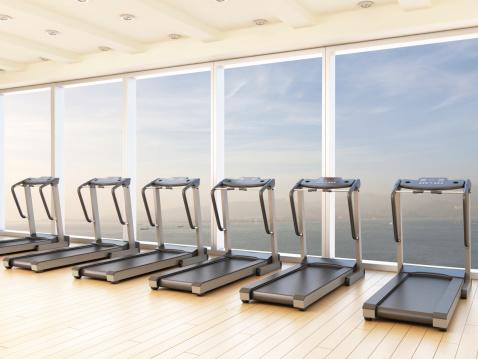 Part of a Series「Treadmill in Gym」:スマホ壁紙(14)