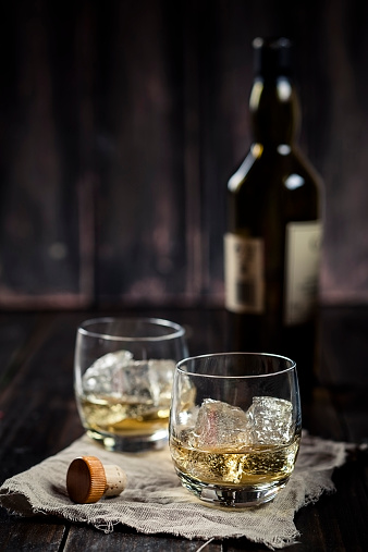 Drinking Glass「Two tumblers with whisky and ice」:スマホ壁紙(18)
