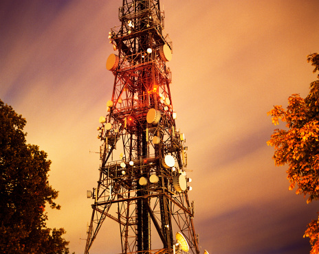 Communications Tower「Croydon Mast at Night」:スマホ壁紙(9)