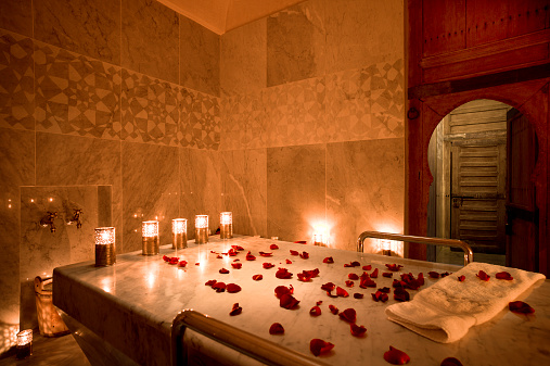 Candle「Morocco, Fes, Hotel Riad Fes, lighted spa」:スマホ壁紙(15)
