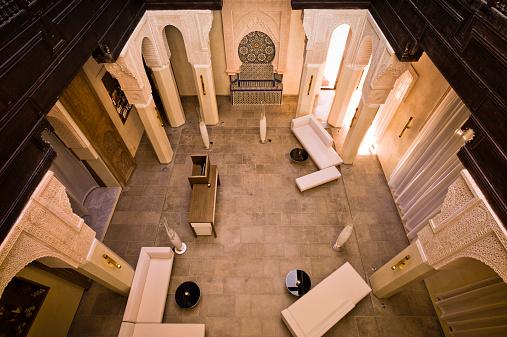 Fez - Morocco「Morocco, Fes, Hotel Riad Fes, lounge」:スマホ壁紙(15)