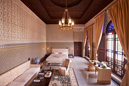 Palace「Morocco, Fes, saloon at Hotel Riad Fes」:スマホ壁紙(15)