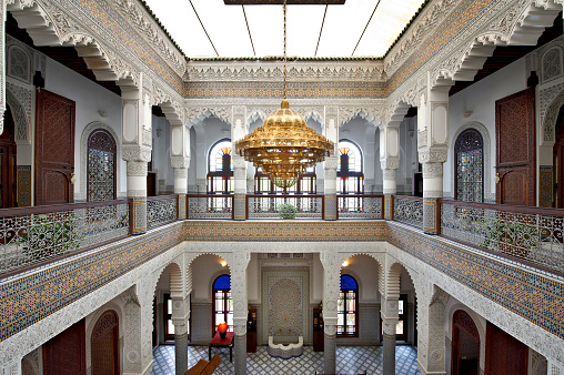 Fez - Morocco「Morocco, Fes, entrance hall of Hotel Riad Fes」:スマホ壁紙(2)
