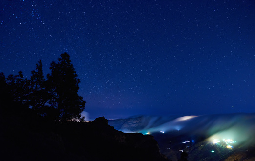 star sky「night over Grand Canary」:スマホ壁紙(11)