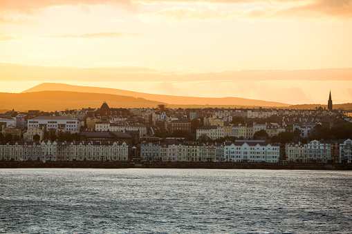 Isle of Man「Douglas at sunset from the Isle of Man Ferry, UK.」:スマホ壁紙(16)