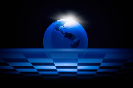 チェス「Globe on chess board」:スマホ壁紙(17)