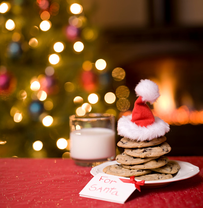Santa Hat「Cookies and Milk for Santa」:スマホ壁紙(8)