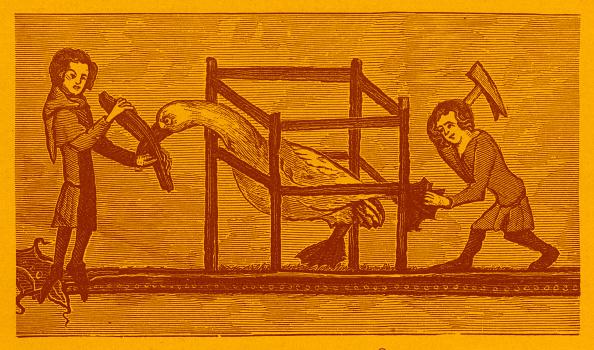 Circa 14th Century「Serfs swan hopping」:写真・画像(3)[壁紙.com]