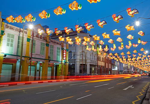 Chinese Lantern「Chinatown of Singapore illuminated at night」:スマホ壁紙(2)