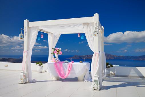 結婚「Terrace with wedding decoration」:スマホ壁紙(5)