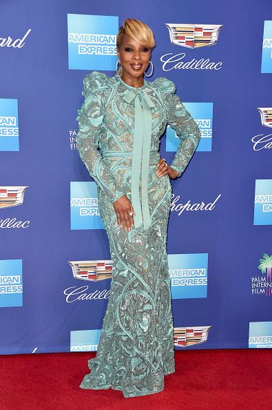 Turquoise Colored「29th Annual Palm Springs International Film Festival Film Awards Gala - Arrivals」:写真・画像(12)[壁紙.com]