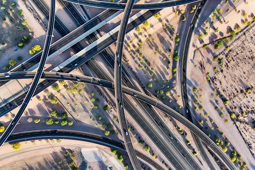Elevated Road「Arizona Freeway Interchange Aerial」:スマホ壁紙(14)