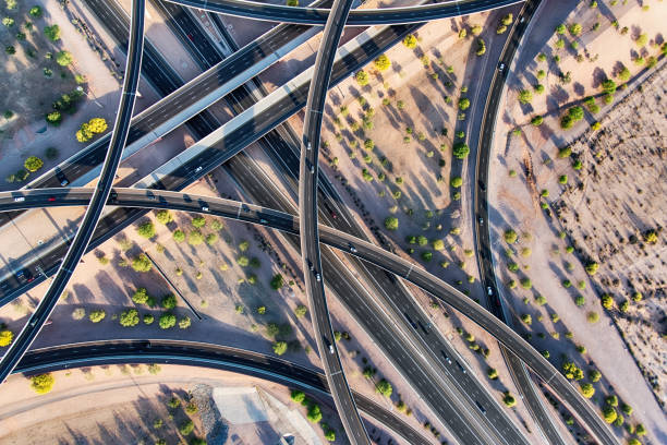 Arizona Freeway Interchange Aerial:スマホ壁紙(壁紙.com)