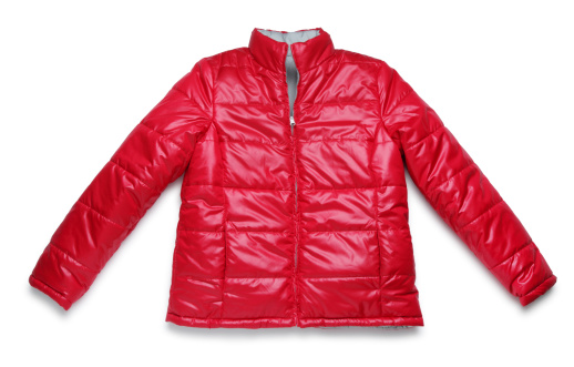 Winter Coat「Red Winter Jacket on White」:スマホ壁紙(3)