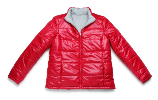 Winter Coat「Red Winter Jacket on White」:スマホ壁紙(1)