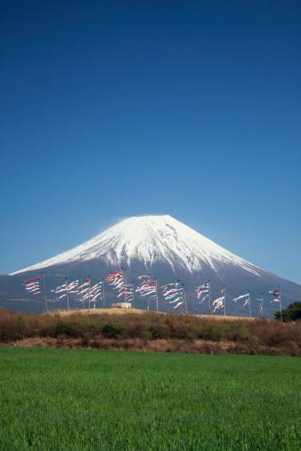こいのぼり「Carp Streamers and Mount Fuji」:スマホ壁紙(4)