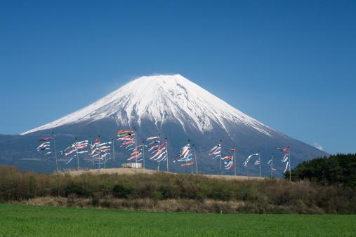 こいのぼり「Carp Streamers and Mount Fuji」:スマホ壁紙(3)
