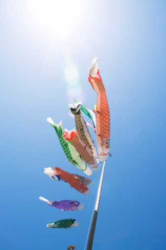こいのぼり「Carp Streamers Blowing in the Wind. Kasama, Ibaraki Prefecture, Japan」:スマホ壁紙(7)