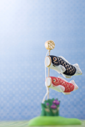 こどもの日「Carp streamer's ornament」:スマホ壁紙(6)
