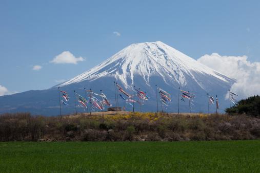 こいのぼり「Carp streamers and Mt. Fuji」:スマホ壁紙(18)