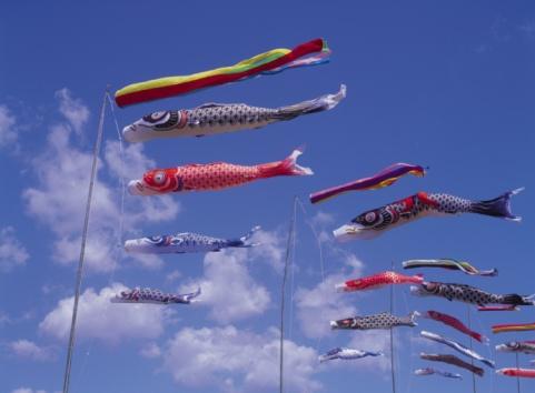 こどもの日「Carp streamers in the sky」:スマホ壁紙(1)