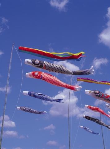 こどもの日「Carp streamers in the sky」:スマホ壁紙(19)