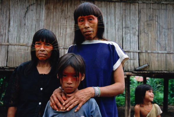 Animal Whisker「Peruvian Amazon, women and children (4-9) of Matses tribe」:写真・画像(13)[壁紙.com]