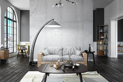 Floor Lamp「Loft Home Interior」:スマホ壁紙(3)