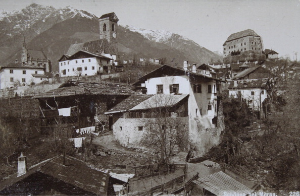 Alto Adige - Italy「Scena Near Merano / South Tyrol. The Castle With The Village. About 1910. Photograph.」:写真・画像(12)[壁紙.com]