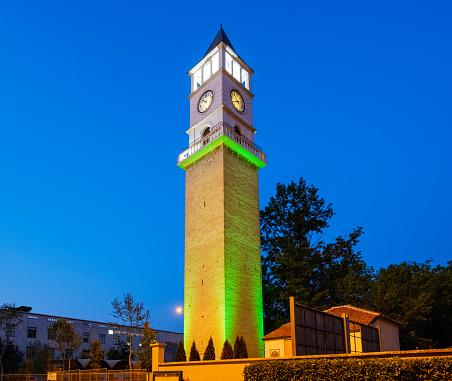 Albania「Albania, Tirana, Clocktower of Tirana at blue hour」:スマホ壁紙(10)