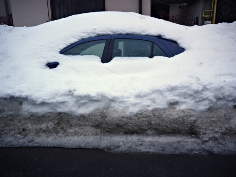 Snowdrift「Car trapped under snow」:スマホ壁紙(13)