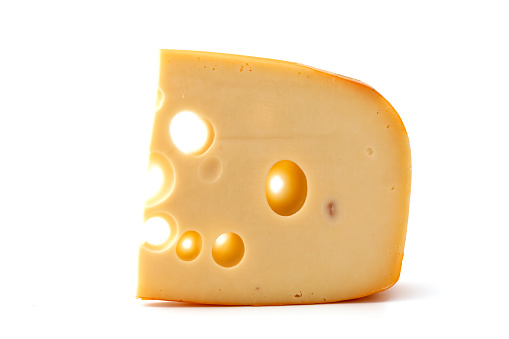 Emmental Cheese「A piece of yellow cheese by itself」:スマホ壁紙(5)