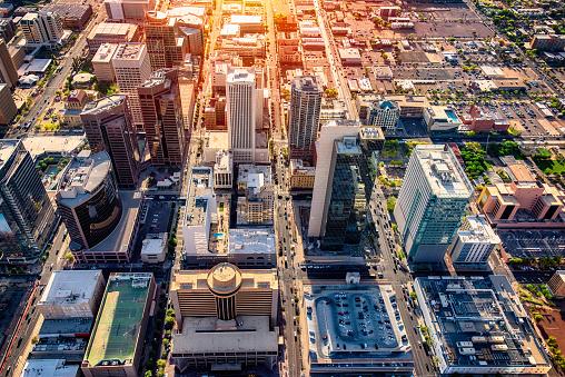 Downtown District「Downtown Phoenix Aerial View」:スマホ壁紙(9)