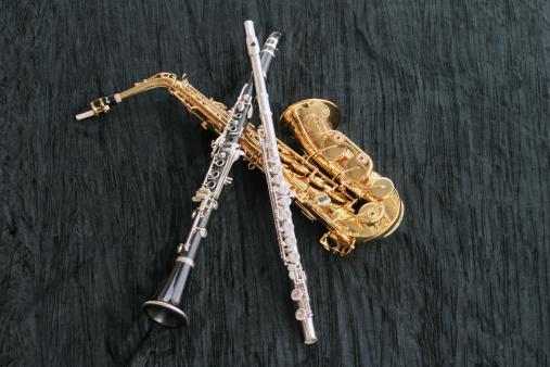 Wind Instrument「Clarinet, Flute and Sax」:スマホ壁紙(12)