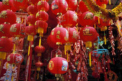 Lunar New Year;「Chinese New Year Lanterns」:スマホ壁紙(18)