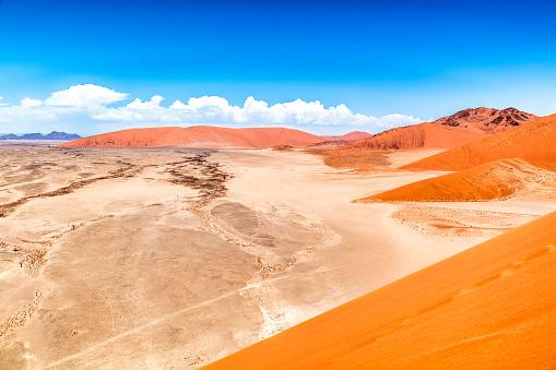 Namibian Desert「Sand dunes, Sossusvlei, Namib Desert, Namibia」:スマホ壁紙(0)