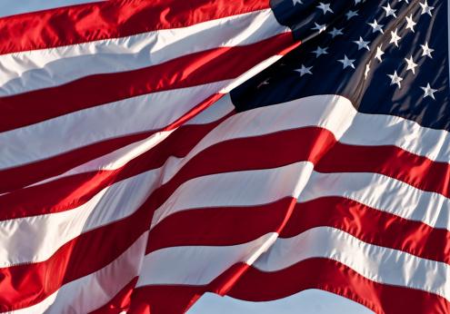 star sky「アメリカの旗を振る」:スマホ壁紙(7)