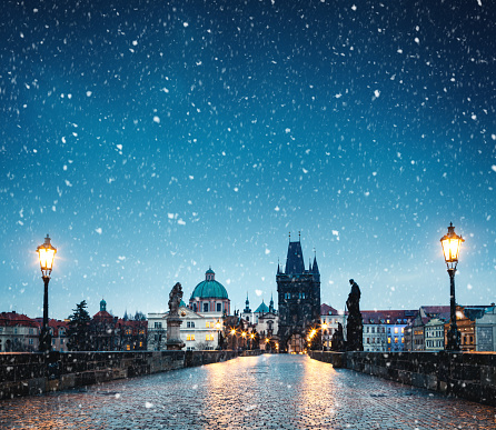 Charles Bridge「Christmas In Prague」:スマホ壁紙(0)
