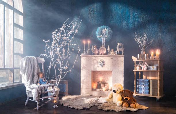 Christmas interior of loft room:スマホ壁紙(壁紙.com)