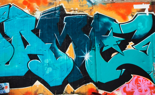 Art And Craft「Colorful graffiti on a concrete wall.」:スマホ壁紙(10)