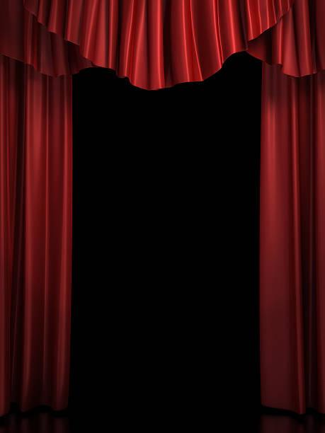 red stage curtain:スマホ壁紙(壁紙.com)