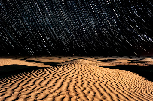 Arid Climate「Stars and Sand - Night sky in the Sahara Desert」:スマホ壁紙(4)