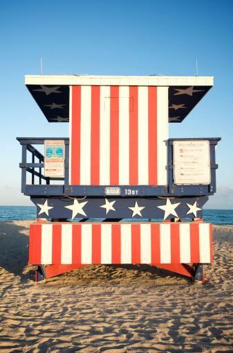 Miami Beach「星とストライプのマイアミビーチハット」:スマホ壁紙(19)