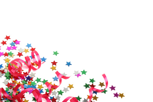 Streamer「Stars and streamers party decoration XXXL on white 」:スマホ壁紙(11)