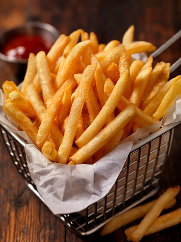 Scalloped - Pattern「Basket of Famous Fast Food French Fries」:スマホ壁紙(6)