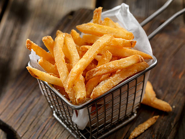 Basket of French Fries:スマホ壁紙(壁紙.com)