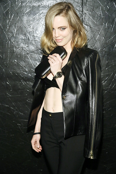 Leather Jacket「Versus Versace Launch Hosted By  Donatella Versace - Arrivals」:写真・画像(14)[壁紙.com]