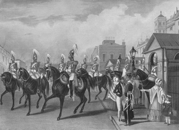 Giles「'2nd Life Guards Relieving Guard', 1844 (1909)」:写真・画像(4)[壁紙.com]