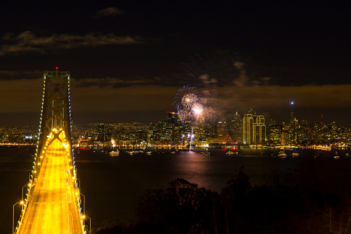 花火「Fireworks over San Francisco」:スマホ壁紙(17)