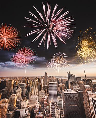花火「花火ニューヨーク市で、ナショナルデー」:スマホ壁紙(6)